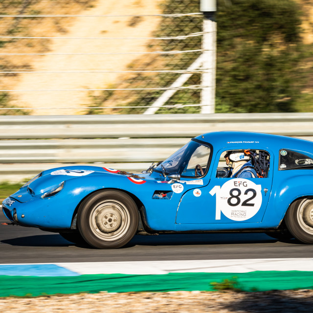 """A DB HBR classic race car during Estoril Classics 2020"" stock image"