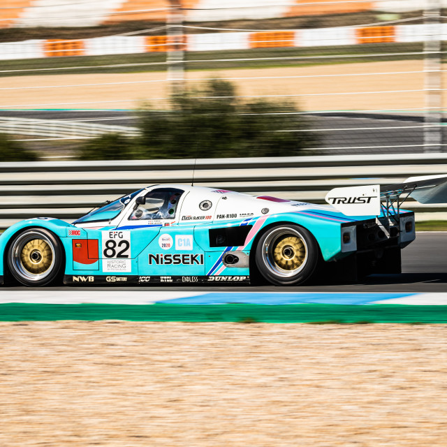 """A Porsche classic race car during Estoril Classics 2020"" stock image"
