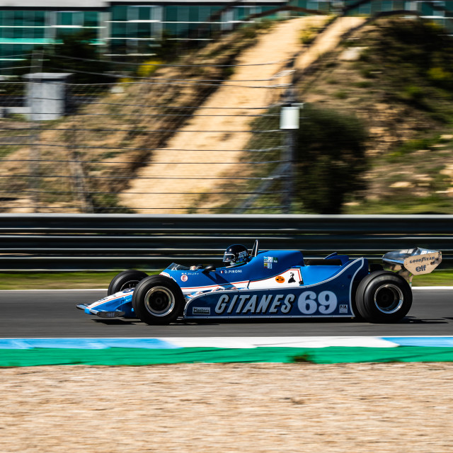 """A Ligier classic F1 race car during Estoril Classics 2020"" stock image"