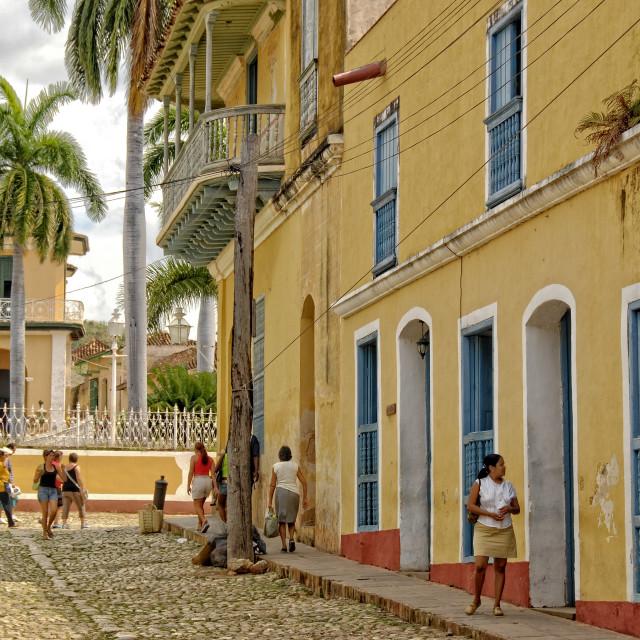 """""""Street scene in Trinidad"""" stock image"""
