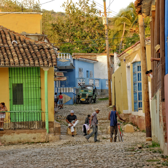 """Street scene in Trinidad, Cuba"" stock image"
