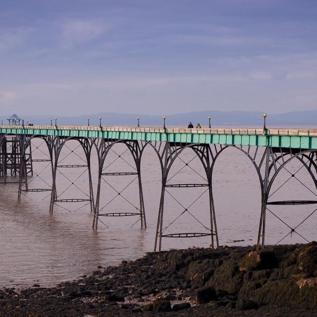"""Clevedon Pier - Somerset"" stock image"