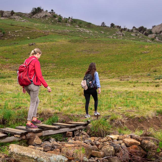 """Drakensberg hiking"" stock image"