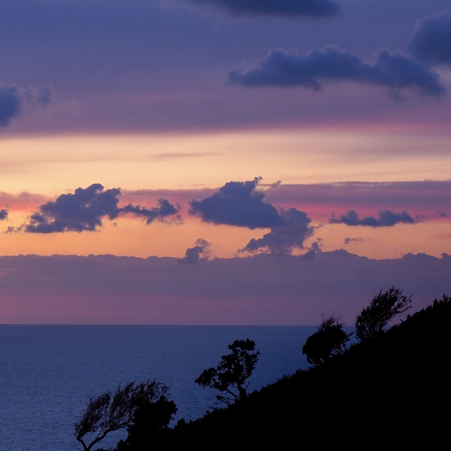 """""""Valley of the Rocks - Sunset"""" stock image"""