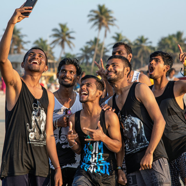 """GROUP SELFIE"" stock image"