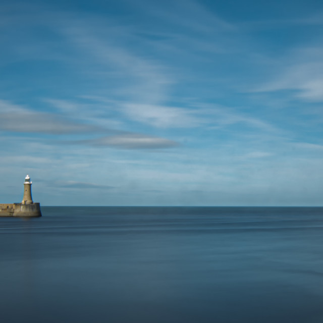 """""""The Mouth of the tyne"""" stock image"""
