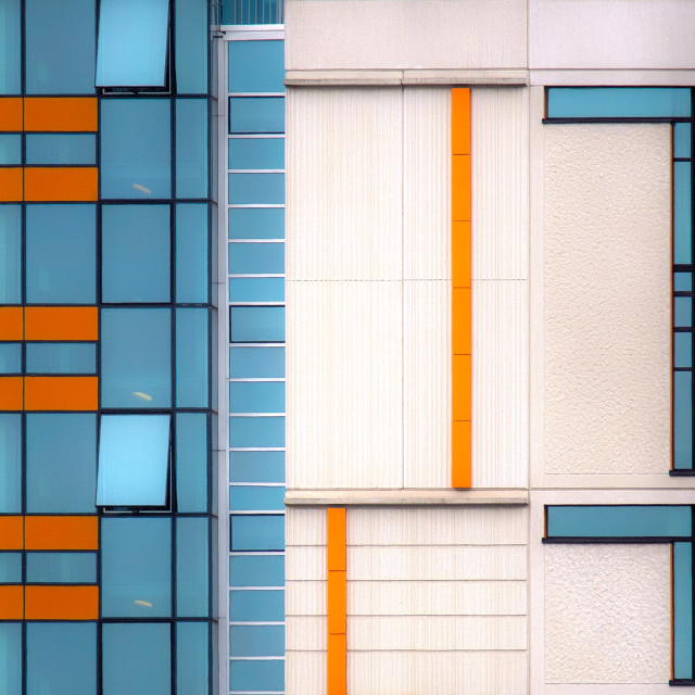 """Shapes and Lines in Housing Complex"" stock image"