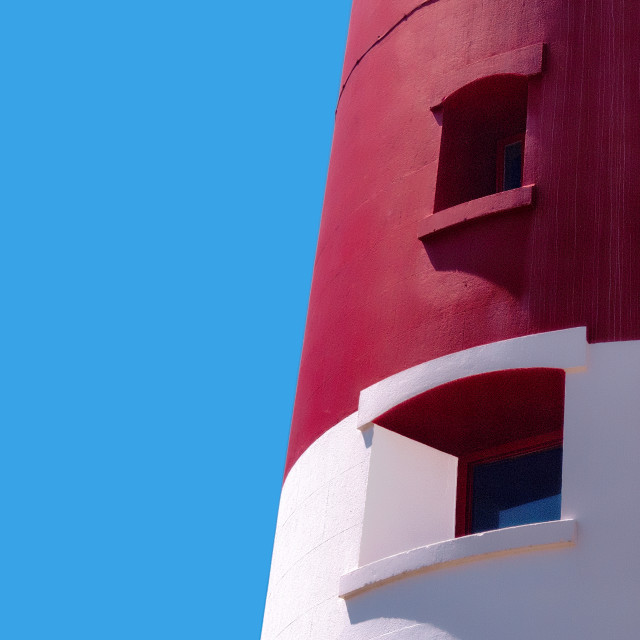"""Lighthouse Detail, Portland Bill"" stock image"
