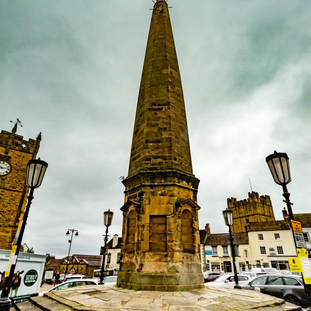 """The Obelisk, Richmond, North Yorkshire."" stock image"