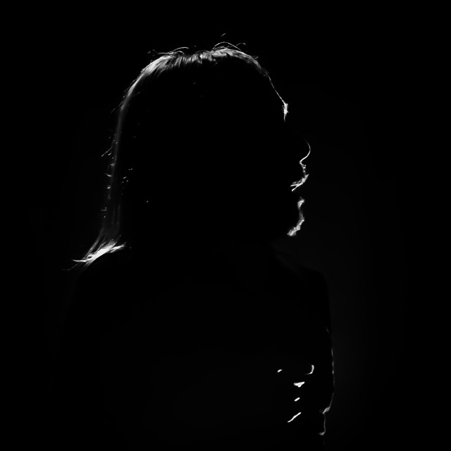 """Iggy Pop At The Barbican 2019 - Silhouette"" stock image"