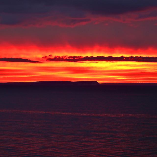 """Dramatic Sunrise ( Widescape )"" stock image"