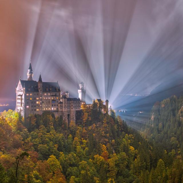 """Neuschwanstein Castle (colour)"" stock image"
