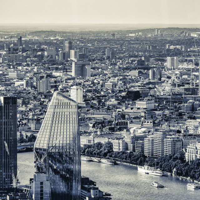 """""""London from The Shard."""" stock image"""