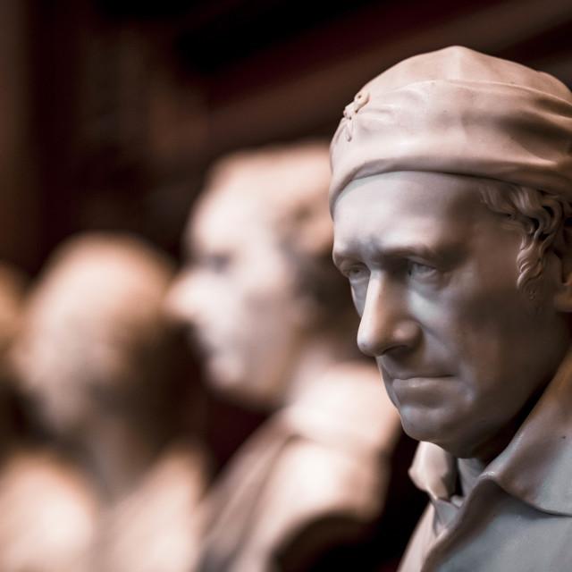 """Statues from The Fitzwilliam Museum, Cambridge UK."" stock image"