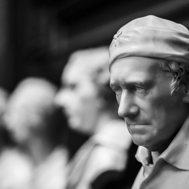 """""""Statues from Fitzwilliam Museum, Cambridge UK."""" stock image"""