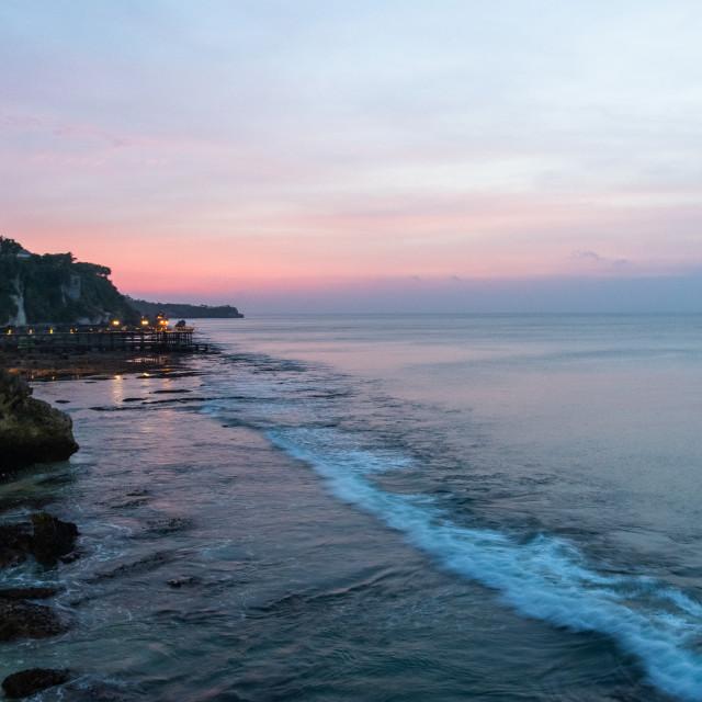 """""""Daylight fading // Kuta Selatan, Bali"""" stock image"""