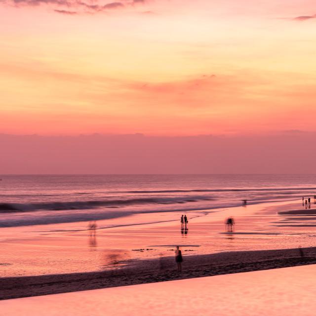 """Pastel sky // Seminyak Beach, Bali"" stock image"