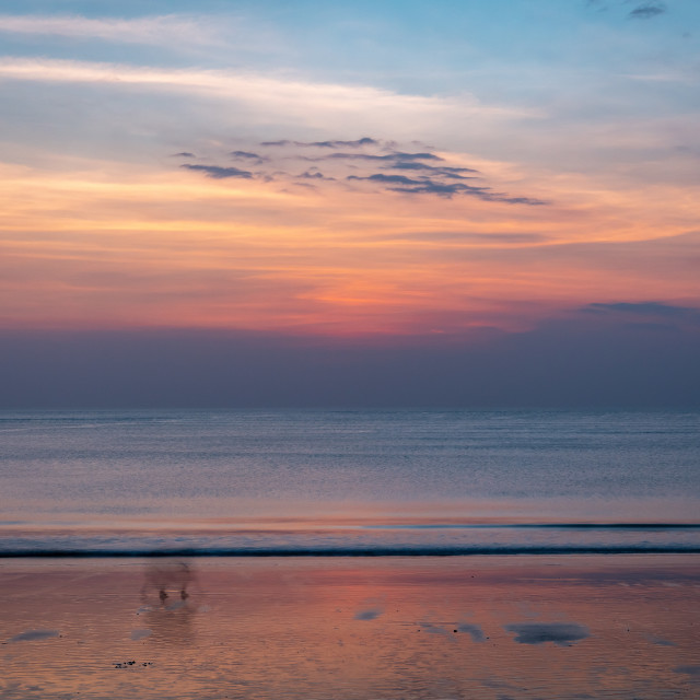 """Pastel coloured sunset // Jimbaran Beach"" stock image"