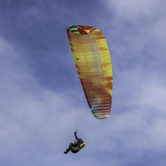 """UK - Norfolk - Northern Coastal Path - Paraglider"" stock image"