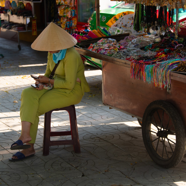 """Vietnamese street environment around the streets of Hanoi and Hoi An"" stock image"