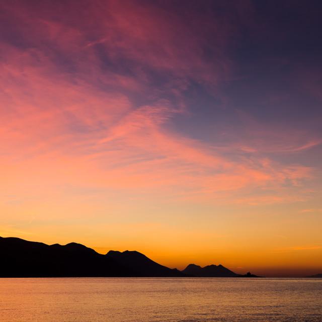 """Sunrise on the Peljesac Riviera"" stock image"