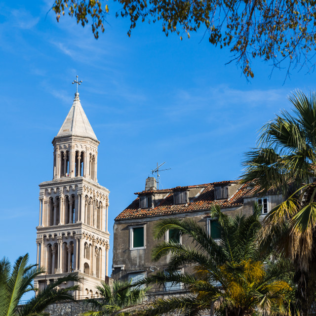 """""""Cathedral of Saint Domnius bell tower"""" stock image"""