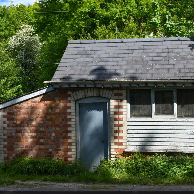 """Roadside Hut"" stock image"