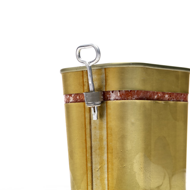 """Metal corned beef tin"" stock image"