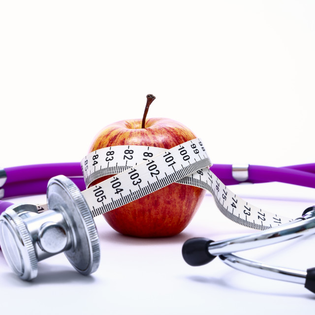 """""""Conceptual weight loss healthy eating image"""" stock image"""
