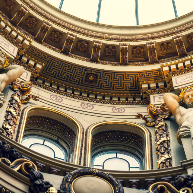 """Fitzwilliam Museum Grade 1 listed Dome entrance, Cambridge UK."" stock image"