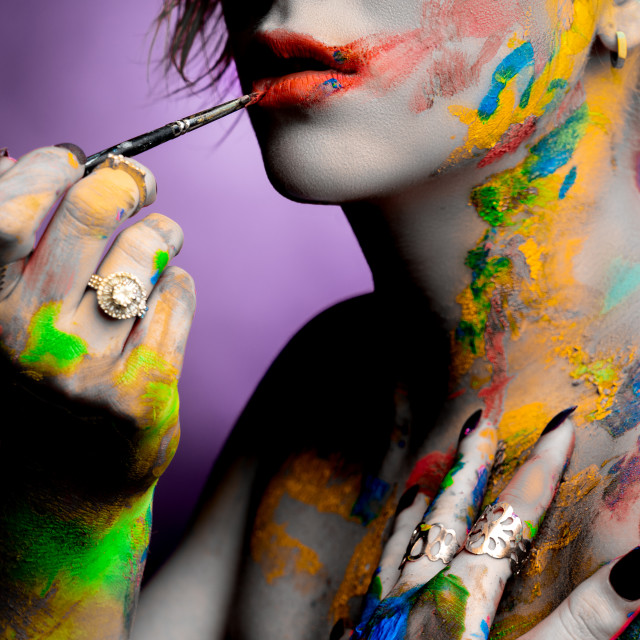 """""""Paint is colourful"""" stock image"""