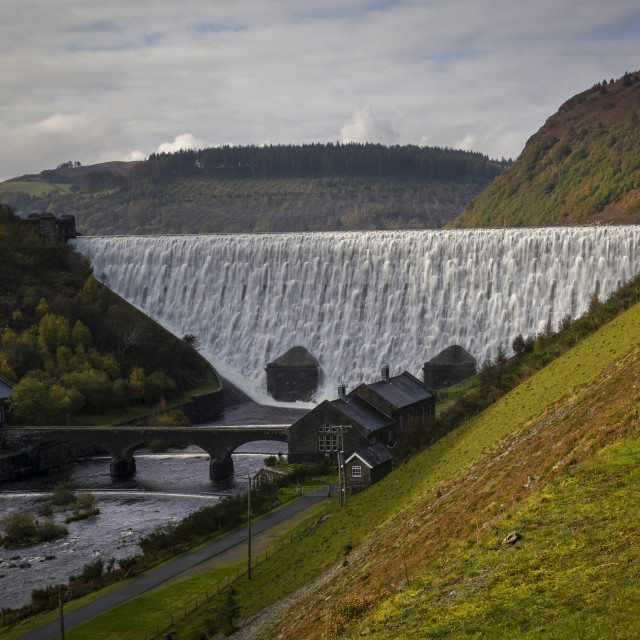 """The Caban Goch reservoir"" stock image"