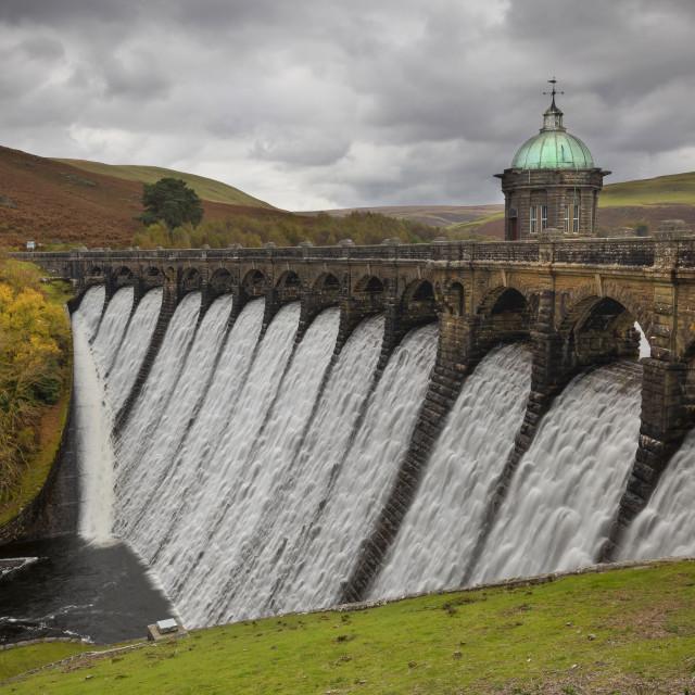 """The dam at Craig Goch"" stock image"