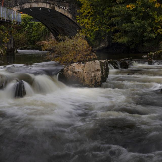 """The bridge over the Elan river"" stock image"