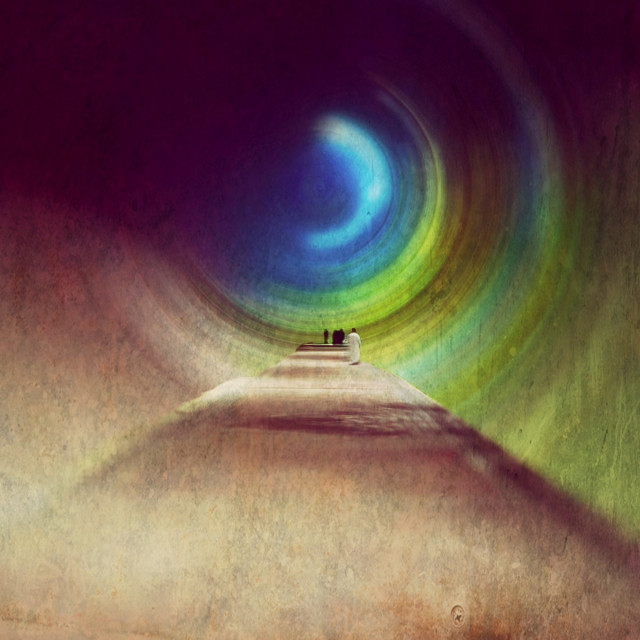 """""""The Path To The Twilight Zone"""" stock image"""