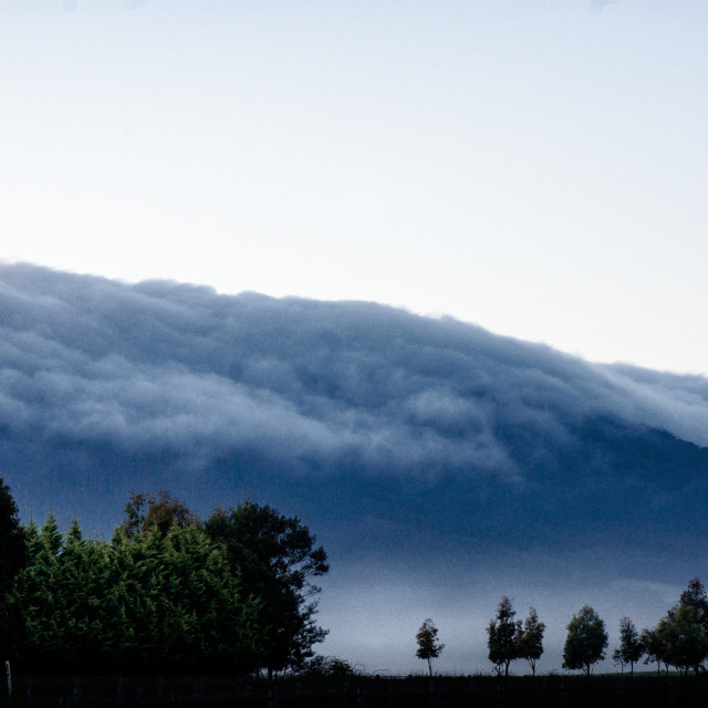 """Fog over Hanging Rock"" stock image"