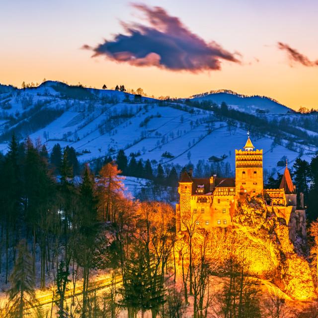"""Bran Castle in Romania, Carpathian Mountains"" stock image"