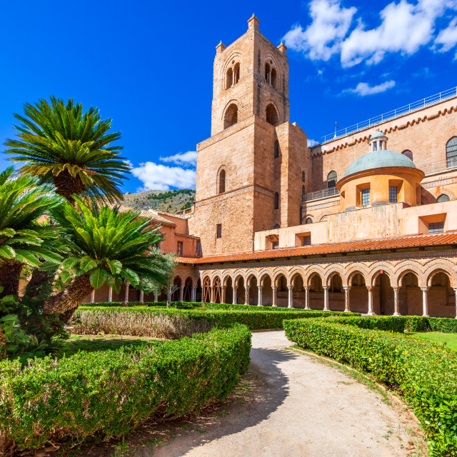 """""""Monreale Cathedral, Palermo in Sicily"""" stock image"""