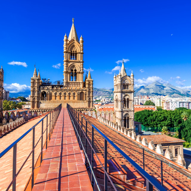 """""""Palermo Cathedral, world heritage site in Sicily, Italy"""" stock image"""