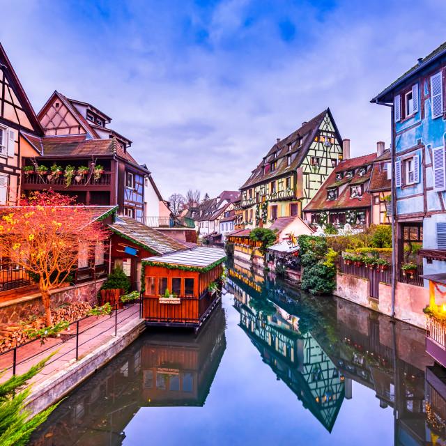 """Petite Venise in Colmar - Alsace, France"" stock image"