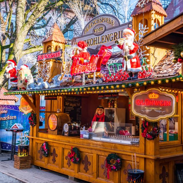 """""""Basel, Switzerland - Christmas Market"""" stock image"""