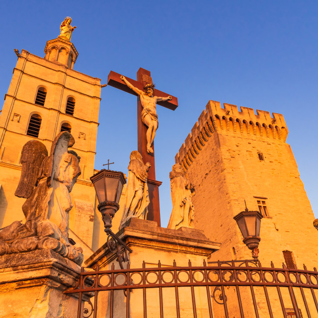 """""""Avignon, Provence - The Papal Cathedral, France."""" stock image"""