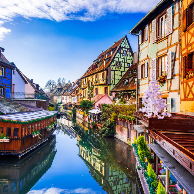 """""""Colmar, France. Petite Venise and Christmas in Alsace."""" stock image"""