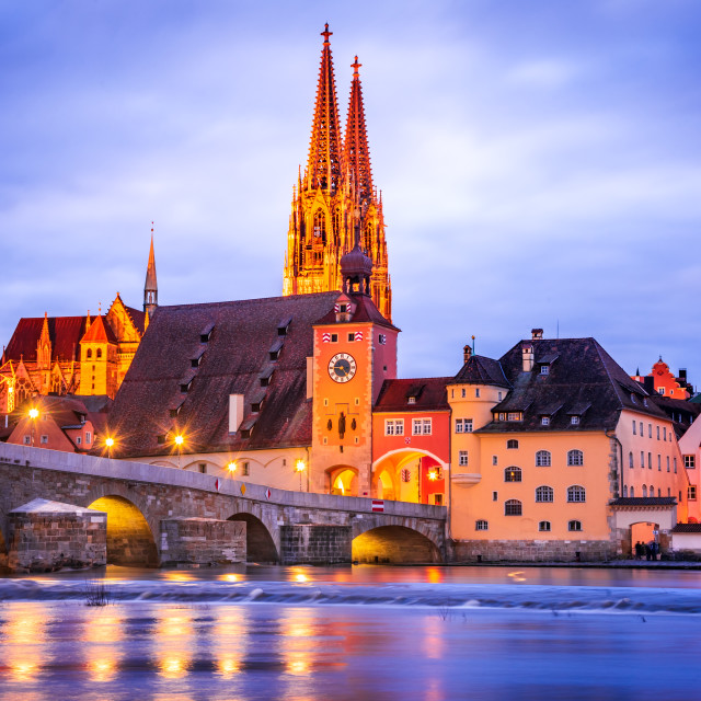 """Regensburg, Germany"" stock image"