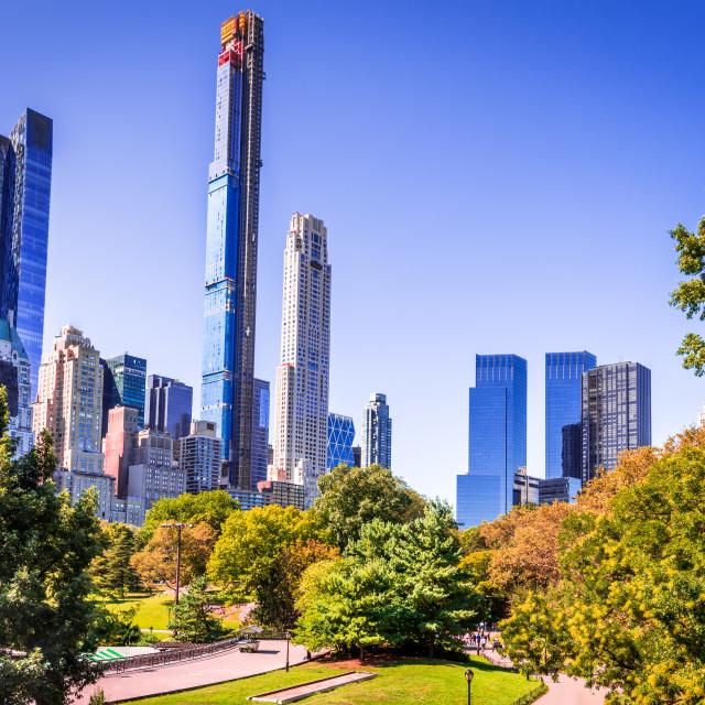 """New York City, Central Park and Manhattan, USA"" stock image"