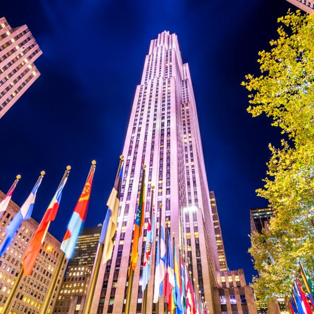 """New York City, USA - Rockefeller skyscraper"" stock image"