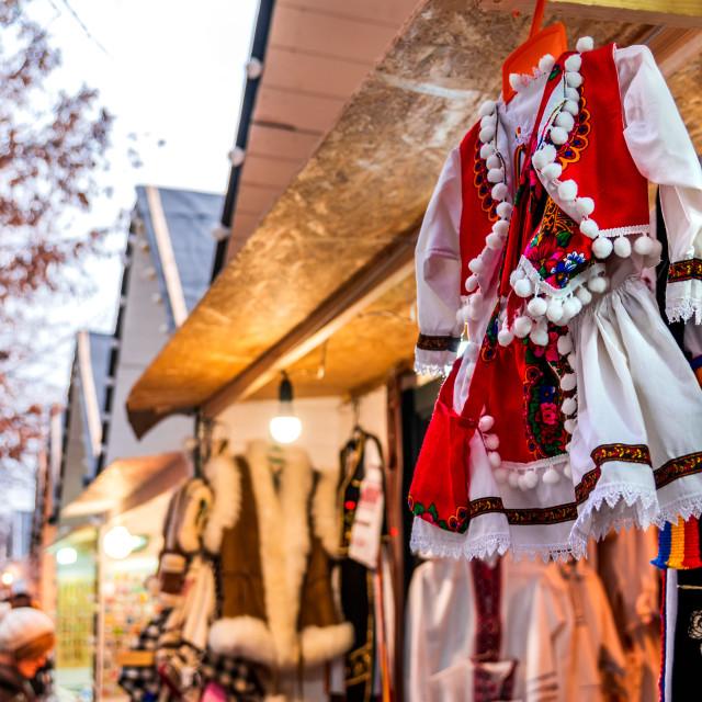 """Cluj Napoca, Romania - Christmas Market in Transylvania"" stock image"
