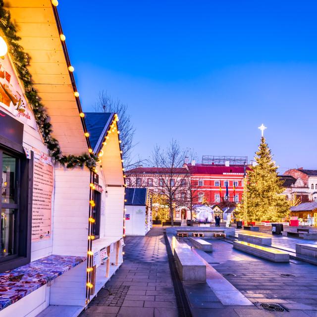 """""""Cluj Napoca, Transylvania - Christmas Market Romania"""" stock image"""