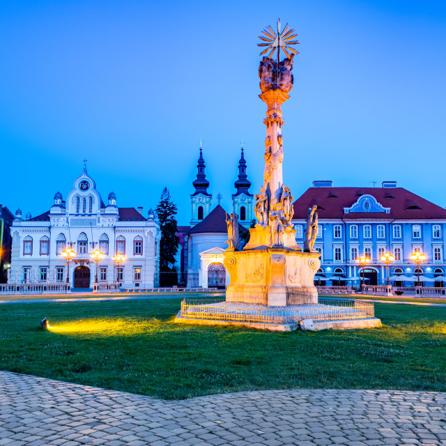 """""""Timisoara, Romania - Union Square in Banat"""" stock image"""