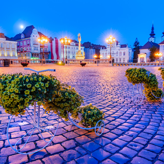 """Timisoara, Banat - Union Square, travel in Romania"" stock image"